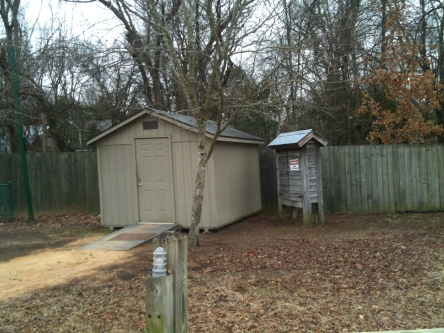 Carrboro's shed for storage and electricity.