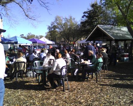 Covington Louisiana, 40 miles from New Orleans. This Saturday market has thrived in recent years.