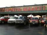 Front of the North Market on Saturday