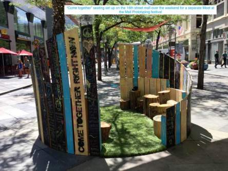 Cometogetherseating16th street mall