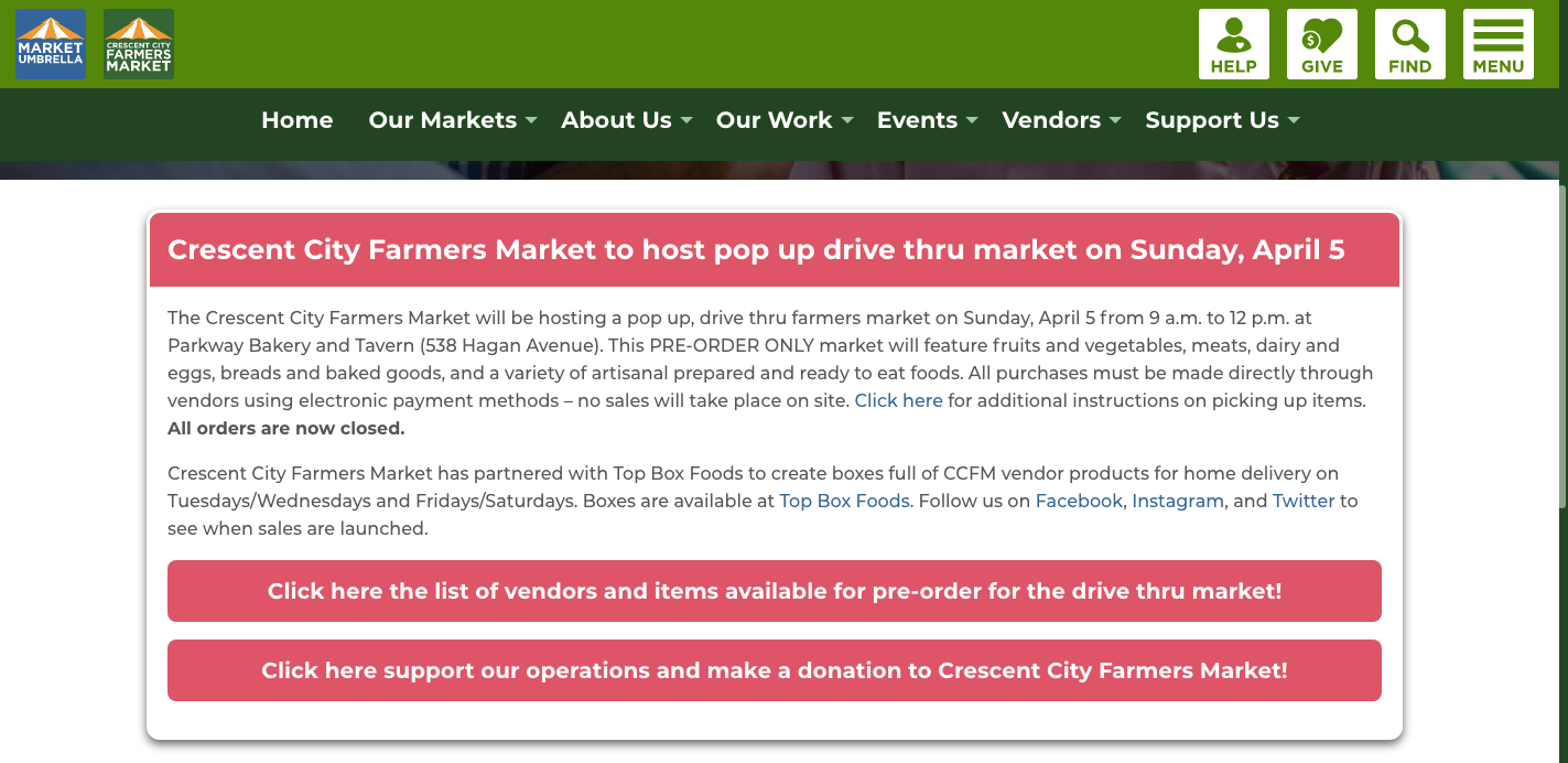 CCFM website DriveThru